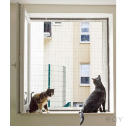 Cat Net Frame to secure your window - Sizes according to your specification