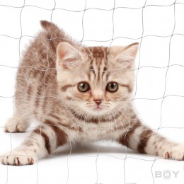 Cat Proof Balcony Netting, transparent in 30mm mesh, thread diameter 0.6mm, very strong