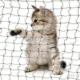 Cat Nets in 40mm mesh size with stainless steel wire reinforcement