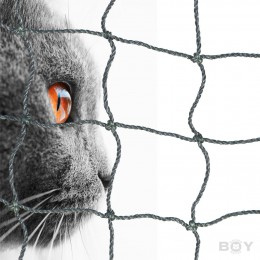 Cat Protection Net in 30mm mesh, thread diameter 1.0mm - black