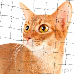 Cat Protection Net in 40mm mesh, thread diameter 1.0mm  - black